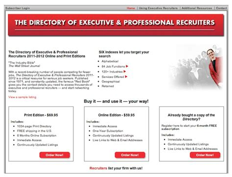 Directory Of Executive And Professional Recruiters by What To Do Next With Your R 233 Sum 233