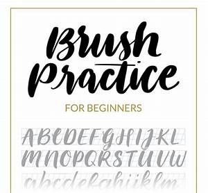 brush lettering beginners guide download and tutorial With lettering guide