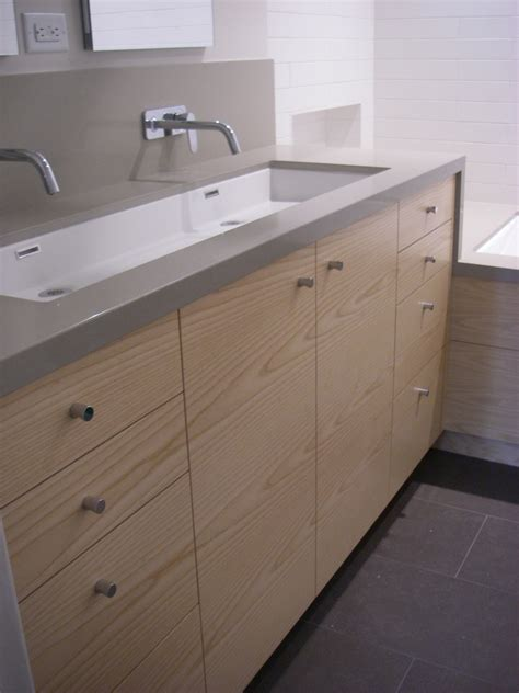backsplash with white cabinets double trough bathroom contemporary with beige