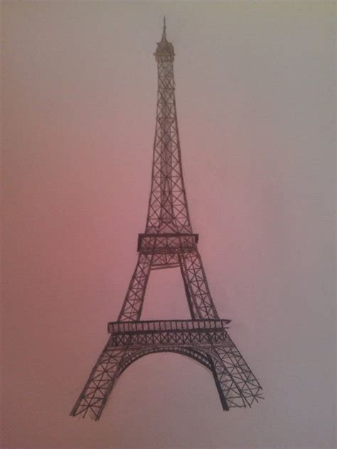 beautiful eiffel tower drawing  sketches