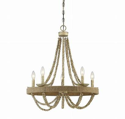 Chandelier Rope Wood Natural Winds Trade Transitional