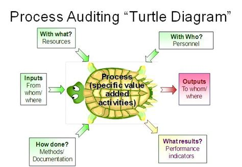 turtle diagram template 7 steps to auditors on the process approach of the iso standard