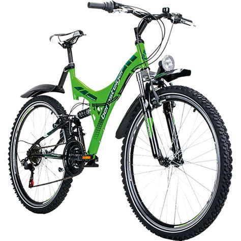 26 zoll jugendfahrrad jugendfahrrad mountainbike 26 zoll gr 252 n bergsteiger fahrrad mytoys
