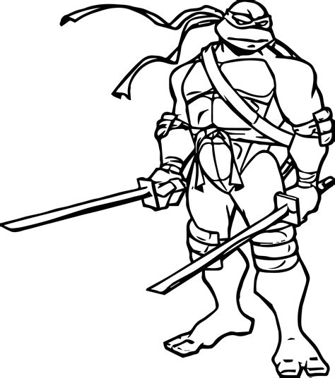 Ninja Turtle Two Blade Coloring Page Charlie's 4th bday