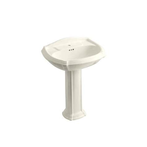 home depot pedestal sink combo gerber allerton pedestal combo bathroom sink in bone