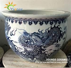 Pot De Fleur Grande Taille : luxe grande taille dragon chinois en c ramique pot de fleur peinture dessins pots fleurs ~ Teatrodelosmanantiales.com Idées de Décoration