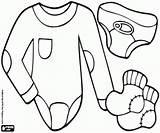 Underwear Baby Coloring Printable sketch template