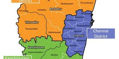 chennai district map map  chennai district tamil nadu india