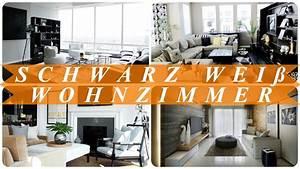 Schwarz Weiß Wohnzimmer : schwarz wei wohnzimmer ideen youtube ~ Orissabook.com Haus und Dekorationen