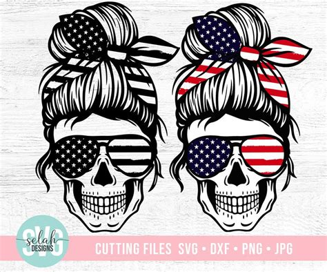 We currently have 47 different messy bun skull svg items available on creative fabrica. American Mom Skull svg Messy bun skull svg Mom life SVG | Etsy