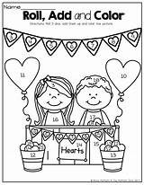 Roll Dice Coloring Negro Kindergarten Valentine Printable Adding Blanco Template Them Activities Addends Math Colores Addition February Valentines Class Sunday sketch template