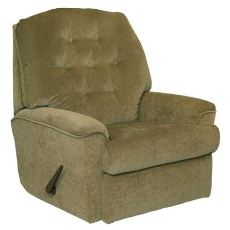 catnapper piper small scale rocker recliner chair in moss
