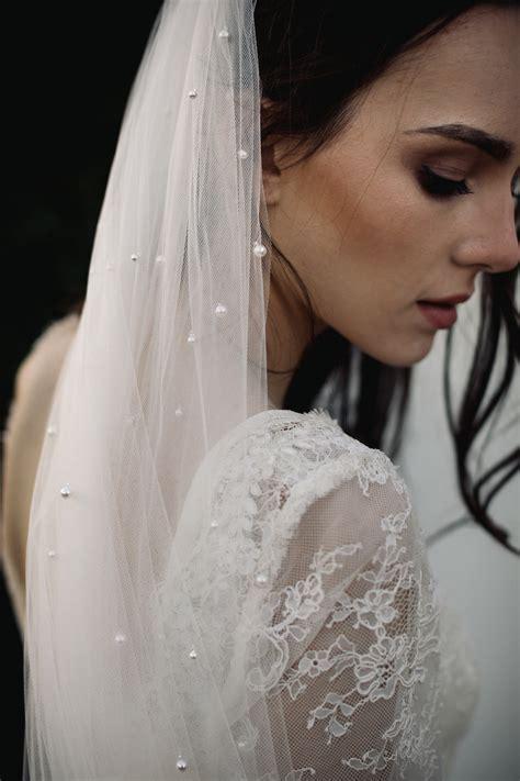 Loren Chapel Wedding Veil With Pearls Tania Maras