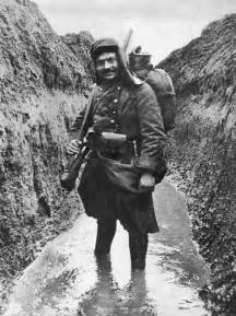 French Soldier in Trenches WW1