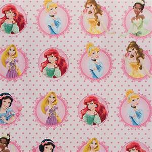 H H Design Character Wrapping Paper 3 Metres Disney Princesses