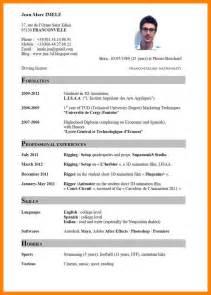 curriculum vitae sle pdf 11 cv english exle pdf addressing letter