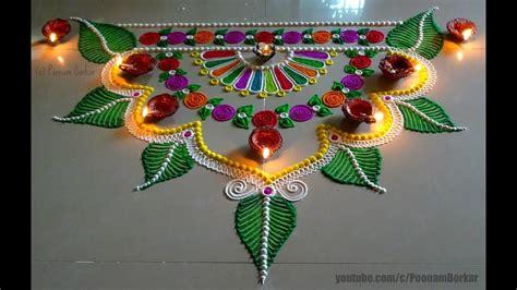 beautiful  innovative semi circle rangoli design