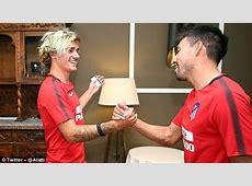 Antoine Griezmann returns to Atletico Madrid training