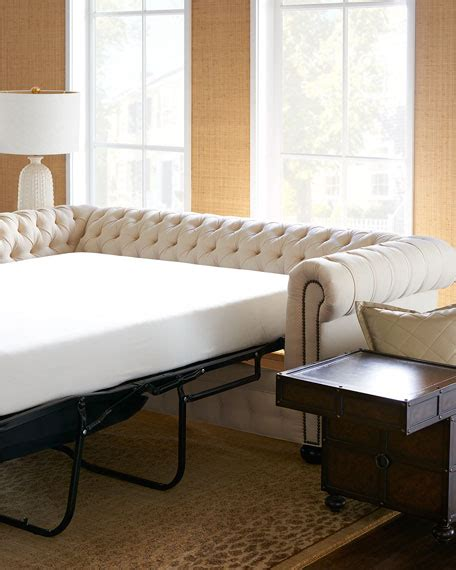Chesterfield Sleeper Sofa by Hickory Tannery Ellery Chesterfield Sleeper Sofa