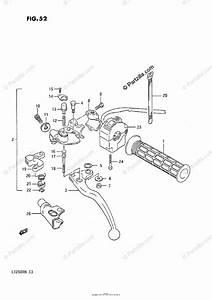 Suzuki Atv 1985 Oem Parts Diagram For Left Handle Switch