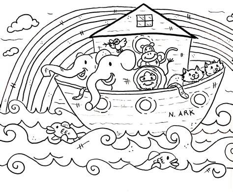 noah ark coloring pages    print