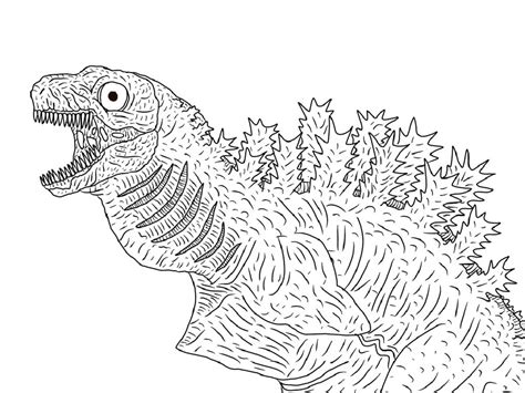 godzilla coloring pages  kids educative printable
