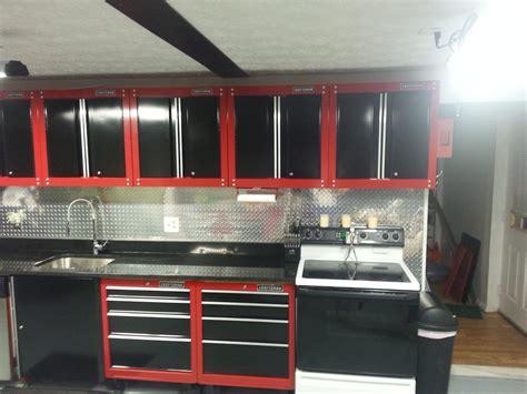 craftsman garage kitchen    kitchen cabinet