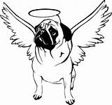 Pug Coloring Pugs Dog Printable Puppy Dogs Angel Adult Animal Hallo Sheets Head Drawing Line Doug Outline Puppies Drawings Bestcoloringpagesforkids sketch template