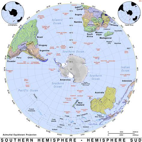 southern hemisphere maps on the web