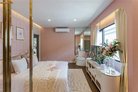 ห้องนอน แบบห้องนอน แต่งห้องนอน ตกแต่งห้องนอน ห้องนอนสีชมพู