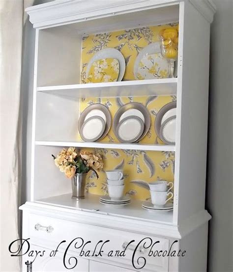 starch and hutch adhere fabric to the back of a hutch with spray starch