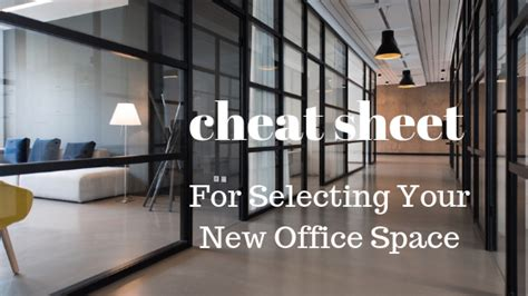 Office Space Cheats by Sheet For Selecting Your New Office Space San