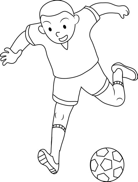 boy coloring clipart soccer clipart black boy pencil and in color soccer