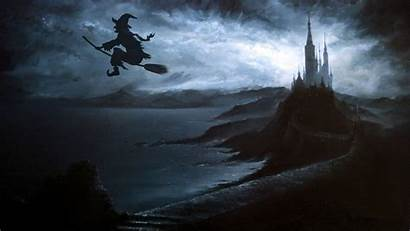 Halloween Desktop Witch Wallpapers Backgrounds Baltana Teahub