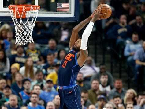 pacers fall  thunder    paul georges return