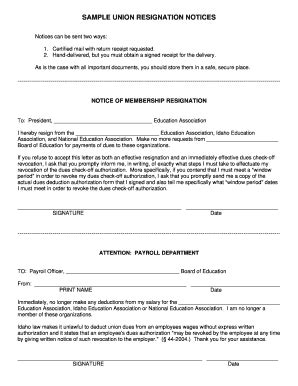 12 Printable sample resignation email Forms and Templates - Fillable Samples in PDF, Word to