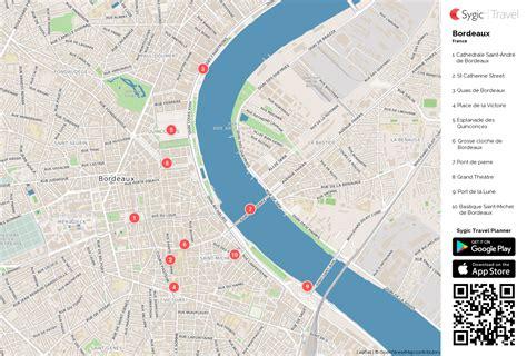 Carte De Touristique à Imprimer by Bordeaux Carte Touristique Imprimable Sygic Travel