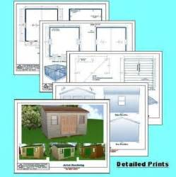 12x16 storage shed plans package blueprints material