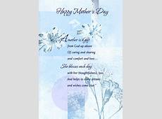 Sparkling Blue Foil Floral Religious Mother's Day Card by