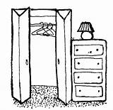 Closet Clipart Empty Clip Clothes Dresser Cupboard Cliparts Put Away Clean Library Coloring Sheet Hanging Clothing Sketch Dressers Cg Dresser1 sketch template