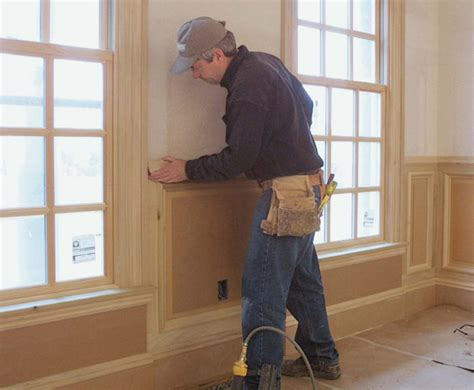 How To Install Raised Panel Wainscoting by A Simple Approach To Raised Panel Wainscot Homebuilding
