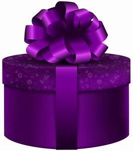 Purple Round Gift PNG Clip Art Image