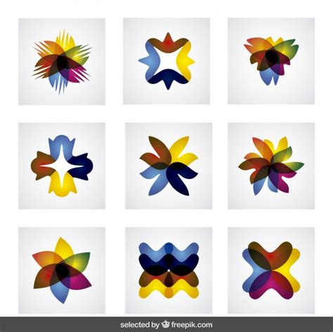 Abstract Shapes Collection by Colorful Abstract Shapes Collection Vector Free
