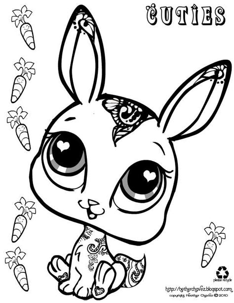 littlest pet shop cuties coloring pages getcoloringpagescom