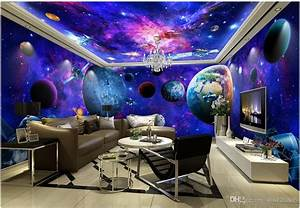 3d Wallpaper Cloth Custom Photo Cosmic Galaxy Earth Theme