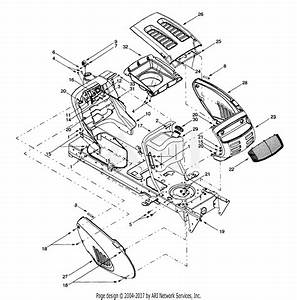 Troy Bilt 13aq609g063  2000  Parts Diagram For Hood Style