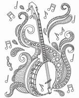 Coloring Adults Adult Mandala Banjo Mandolin Colouring Relax Sheets Apple Musical Desing Instruments Zentangle Colorish Goodsofttech Itunes Patterns Template Ribbon sketch template