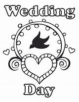 Coloring Wedding Pages sketch template
