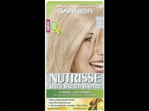 tinte  decoloracion en  paso  garnier nutrisse hair