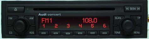 audi concert 2 vymena radia concert za concert audi a4 technika